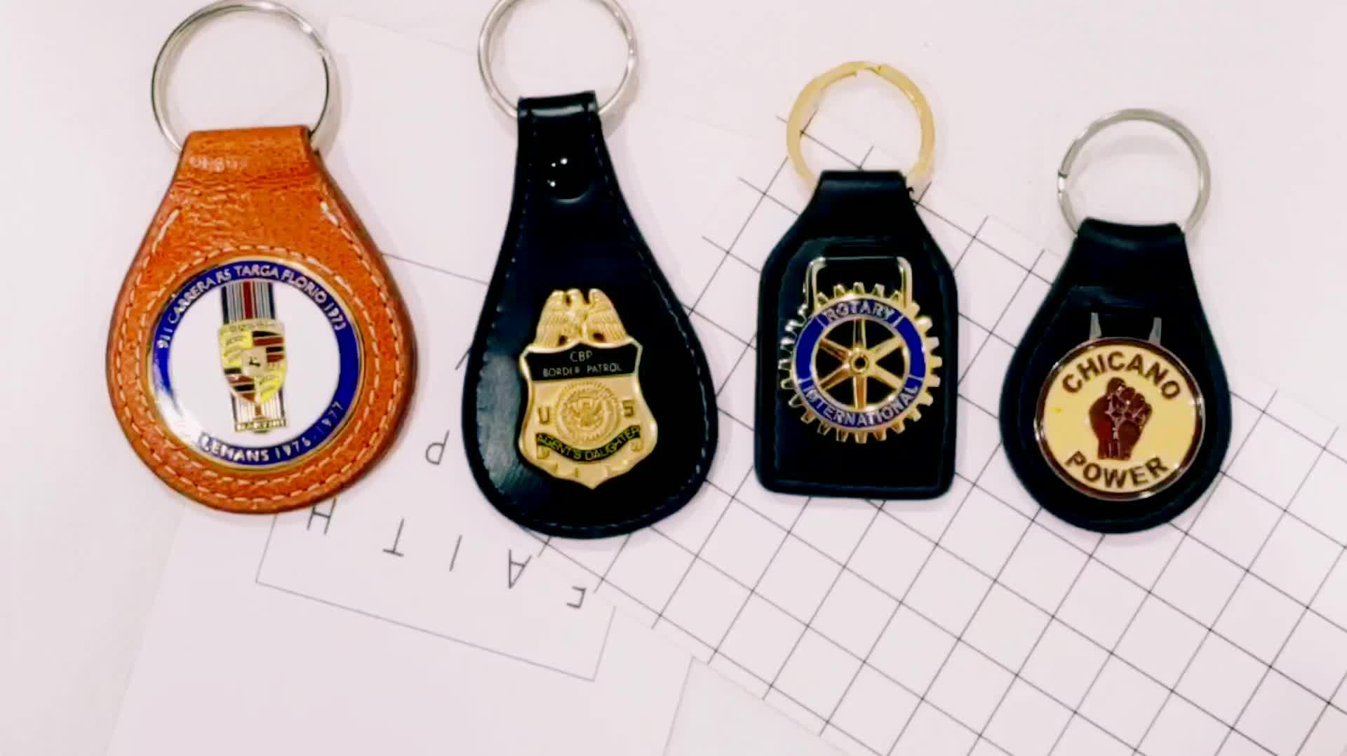 Car Leather Keychain, Cheap Custom Metal Keychain Leather, Wholesale Leather Key Chain