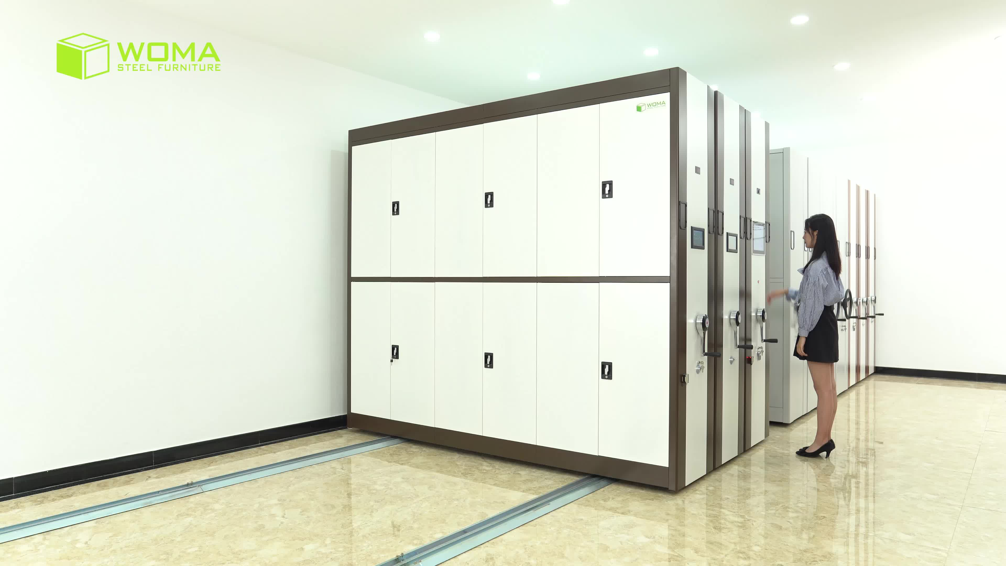 Luoyang High Density Double Side Mobile Archive Shelving