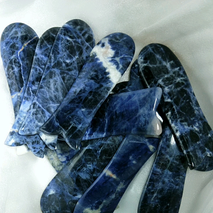 Sodalite Fish Tale for Face and Nose Bridge Gua Sha Board