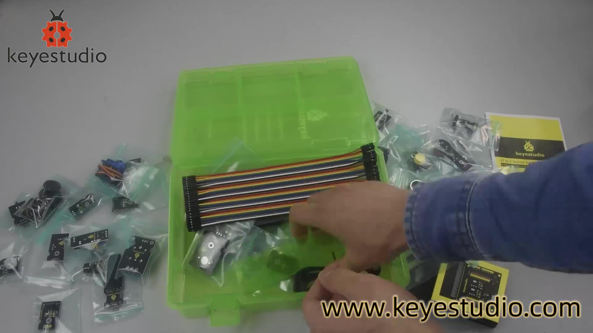 Keyestudio 37 in 1 Sensor Shield Starter Kit with Microbit Board for BBC Micro bit