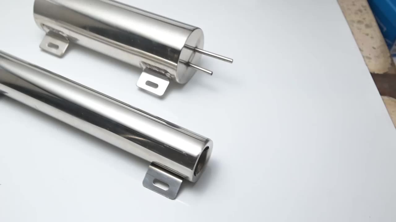 """EPMAN Polished Stainless steel Radiator Overflow Tank Bottle Catch Can 2"""" x 13"""", 3"""" x 9"""",3"""" x 10"""" Car Modification Cooling"""