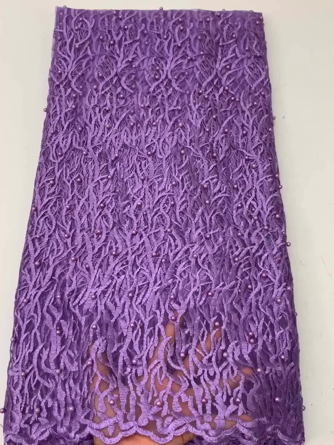 Women lace materia mesh embroidery africa lace fabric without beads