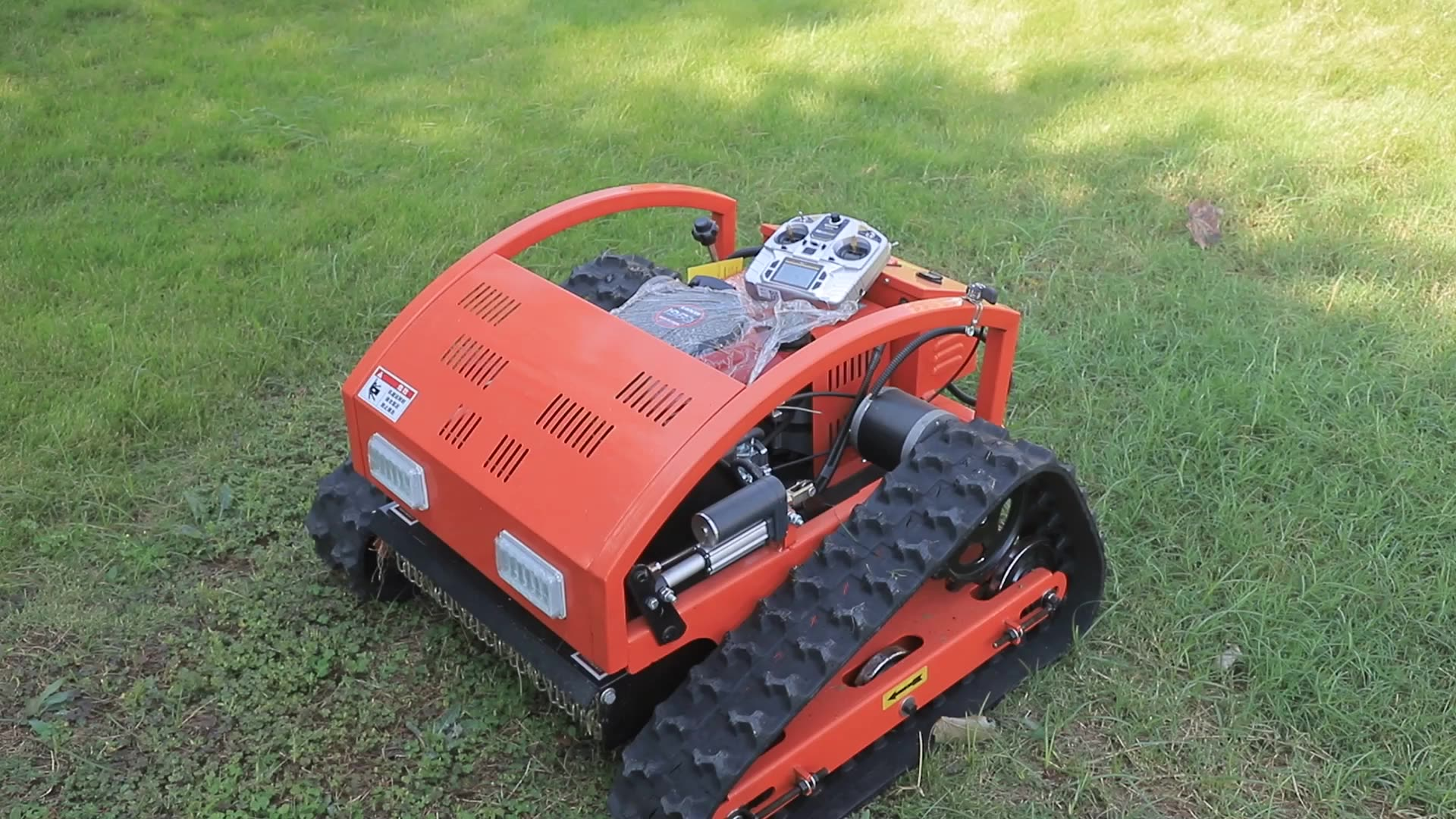 rubber crawler robot Gasoline Self Propelled Garden rc Lawn Mower for sale