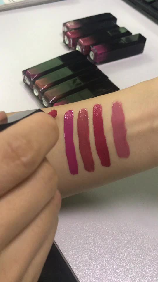 2018 Hot selling Cosmetic Makeup Liquid Lipstick gradient color tube special tube Matte Lipstick