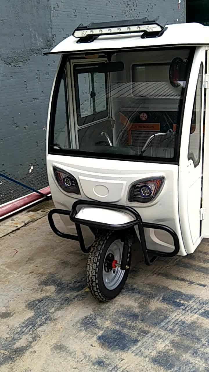 Enclosed cabin cargo tricycles motorcycle with roof