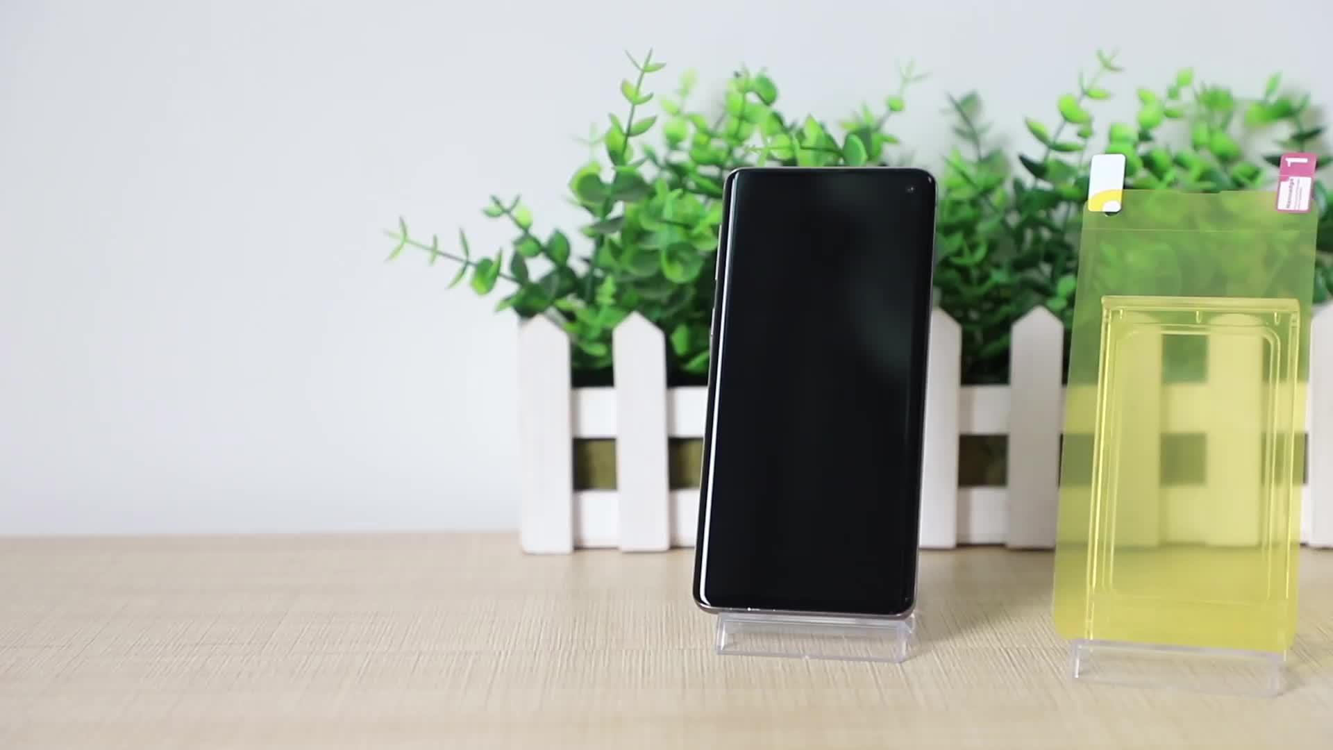 Amazon Nhà Cung Cấp Vàng Nanoedge TPU Phim 3D Đầy Đủ Keo Chống Sốc S10 Cộng Với Bảo Vệ Màn Hình Đối Với Samsung S10 Bảo Vệ Màn Hình
