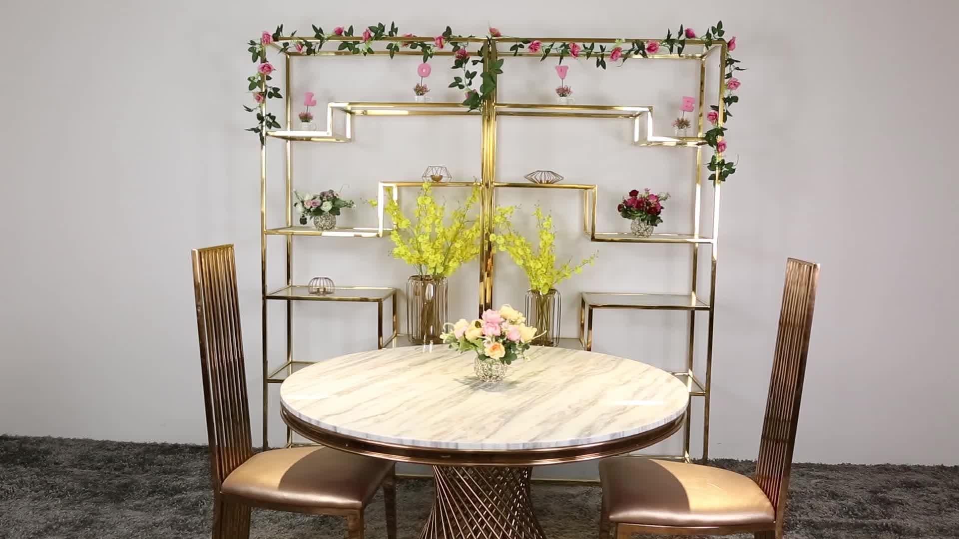 लक्जरी कमरे में रहने वाले सोने स्टेनलेस स्टील बिक्री के लिए आधुनिक डिजाइन चमड़े के सोफे SF004