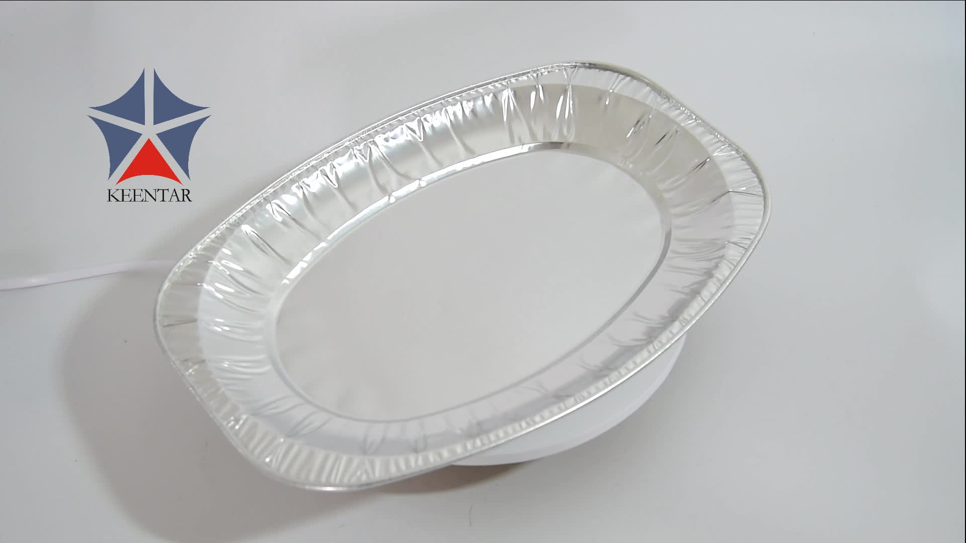 Shallow Disposable Oval Aluminum Foil Pan For Food Packaging