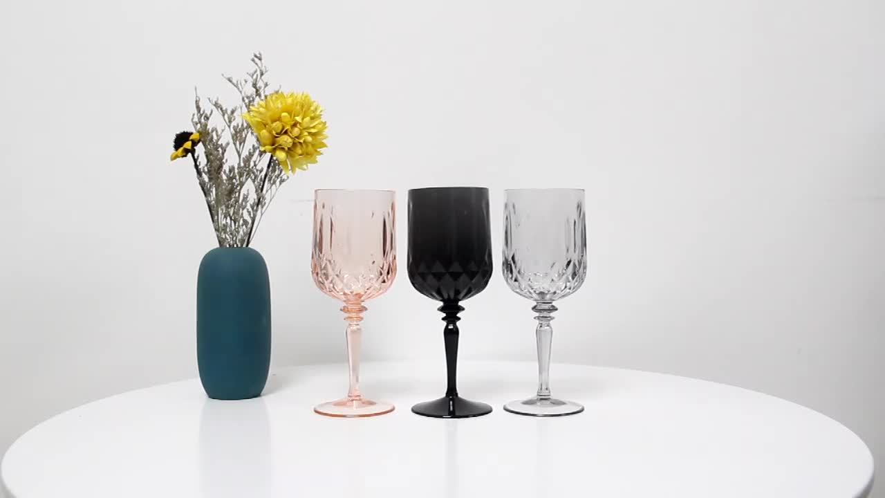 Crystal Red Wine Glasses,Colored Plastic Wine Cups,White Plastic Champagne Glass Plastic Party