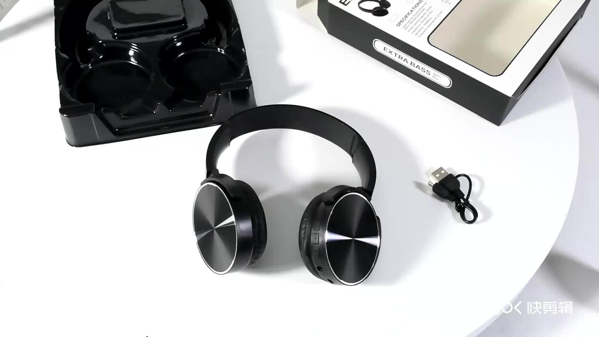 XB450 venta nueva llegada en-oído inalámbrica azulejos auriculares con tarjeta sd reproductor de Radio FM de 3,5mm Jack auriculares