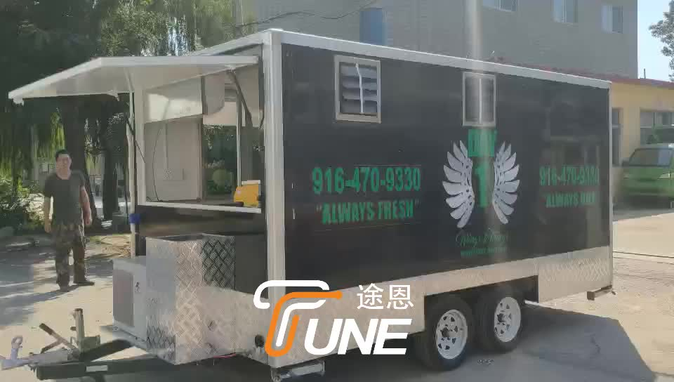 CE Certificate fast food mobile kitchen van/electric food trailer/ice cream truck for sale