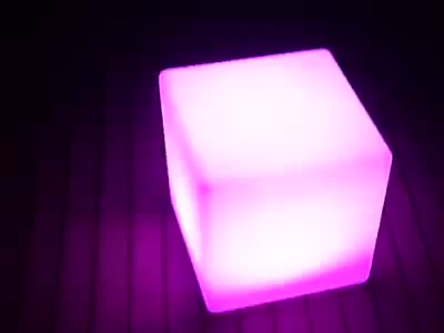Hot sale Waterproof plastic acrylic rgb outdoor remote control light up led chair 40cm sitting cube