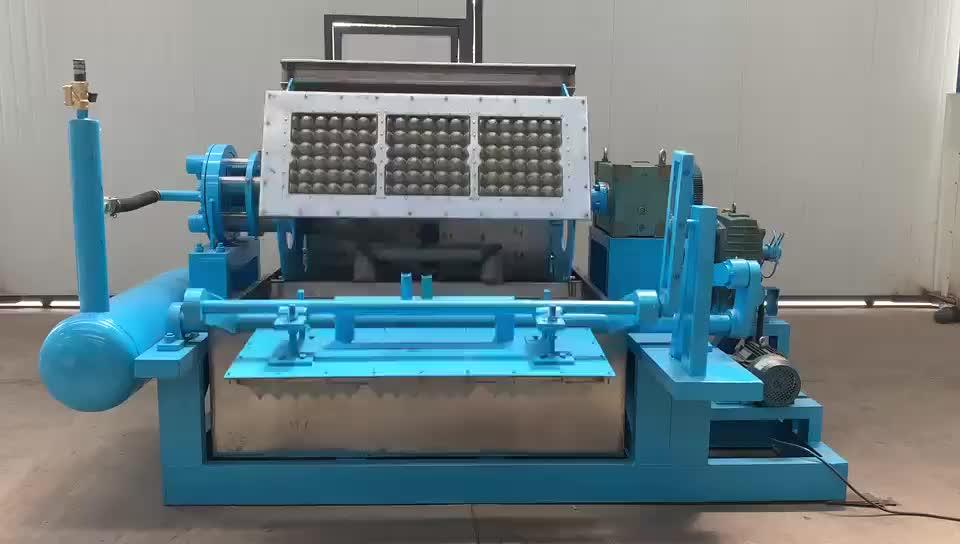 Otomatik hamuru üretim hattı küçük yapma atık kağıt geri dönüşüm kullanılan yumurta tepsisi makinesi