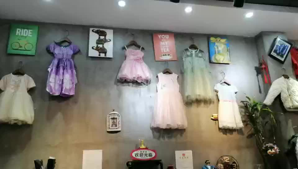 Factory Wholesale Clothing Stock Lots In Cheap Price Stock Children Girls Cute Dress