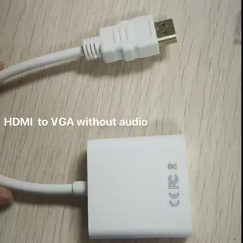HDMI to VGA Cable Adapter with Audio