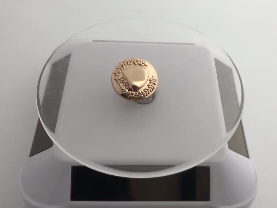 المعايير الأوروبية الذهب مطلي مخصص شعار زخرف مشبك معدني الصحافة زر