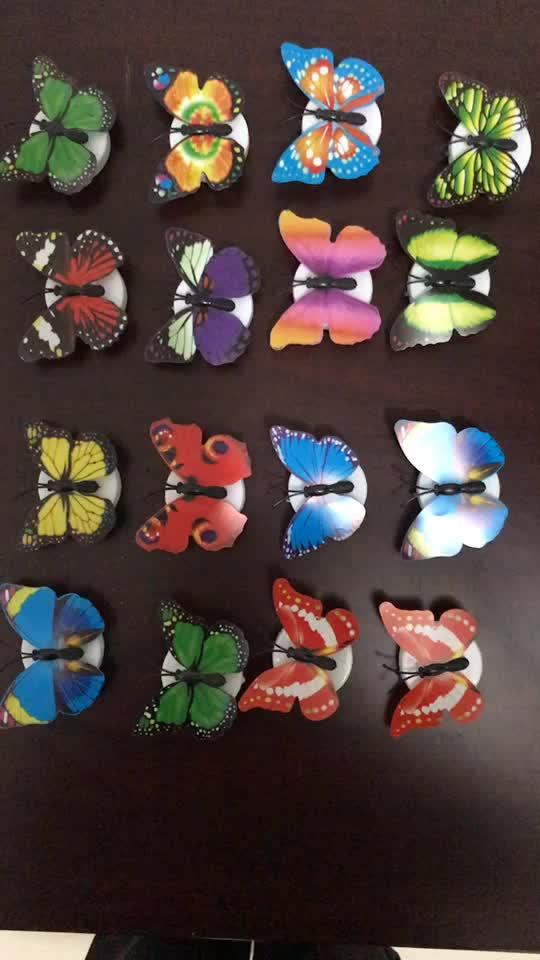 Pegatinas led 3d de mariposa para decoración del hogar que brillan en la oscuridad