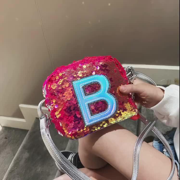 2019 Instagram Hot venda Lantejoula Crianças Saco Bolsa Crossbody Bag Atacado Paty Bolsa de Ombro para As Crianças