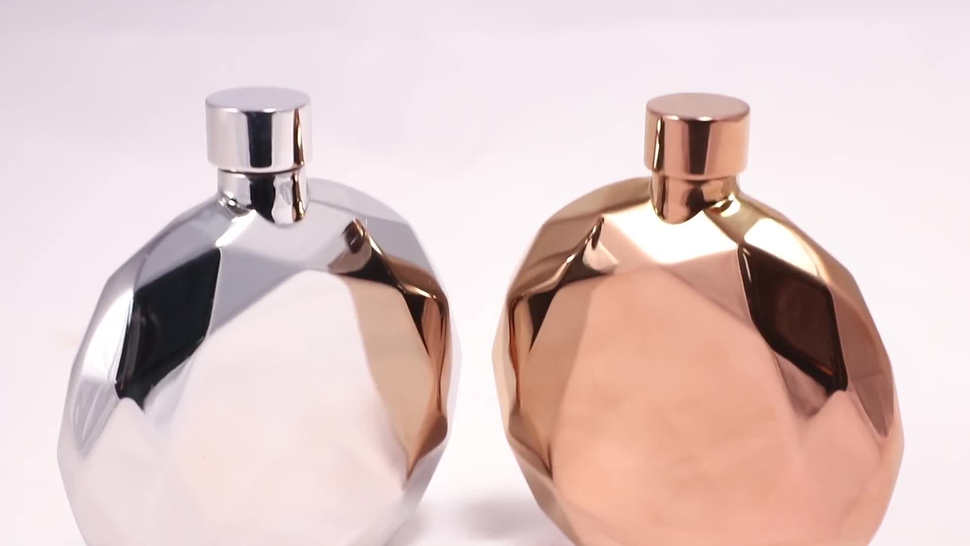 Shenzhen factory direct sell 6oz mirror polished stainless steel hip flask