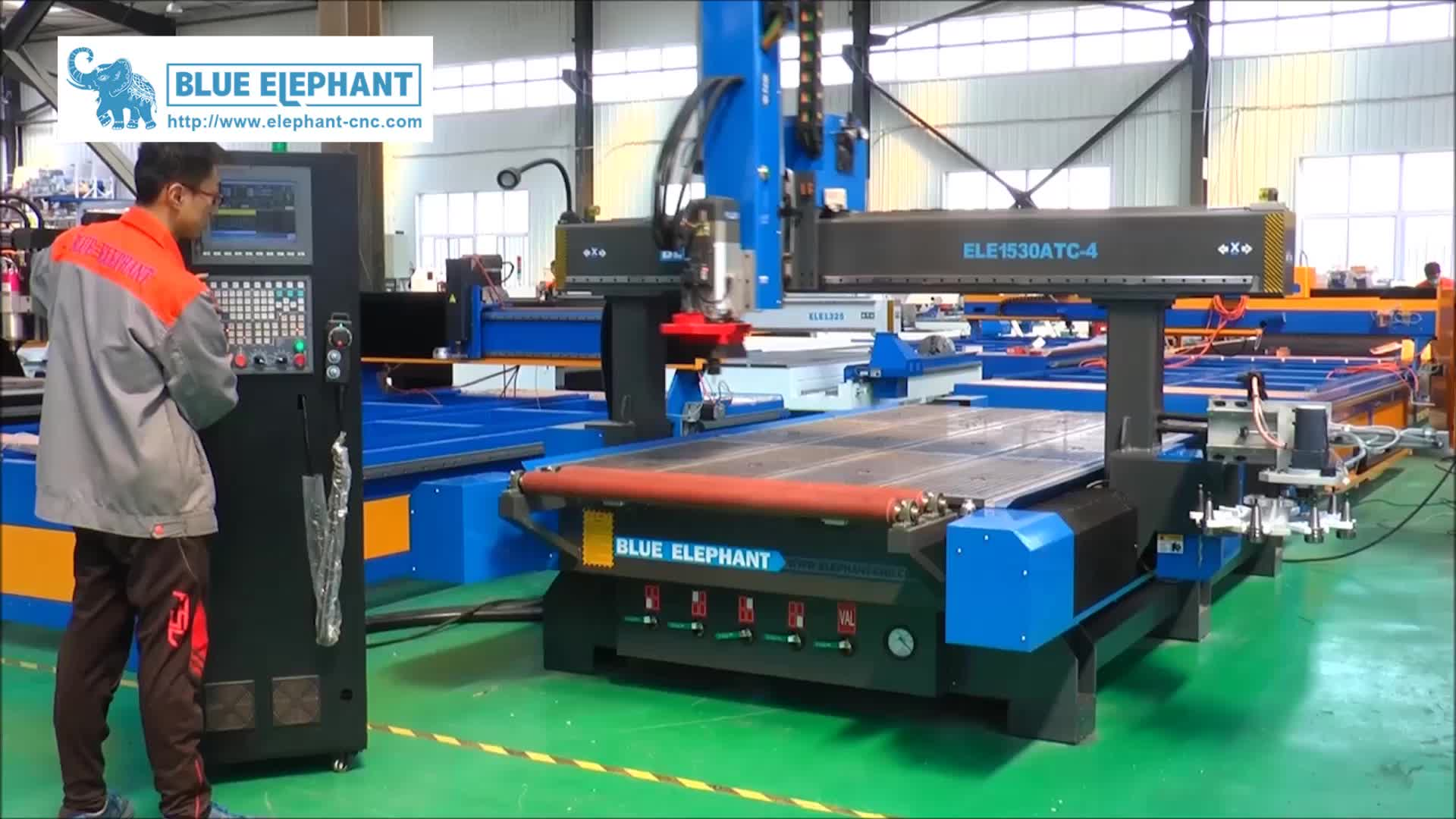 Blue elephant 4 Axis ele 1530 ATC 3D CNC Router on Promotion , Top selling CNC Machine Price List for Wood