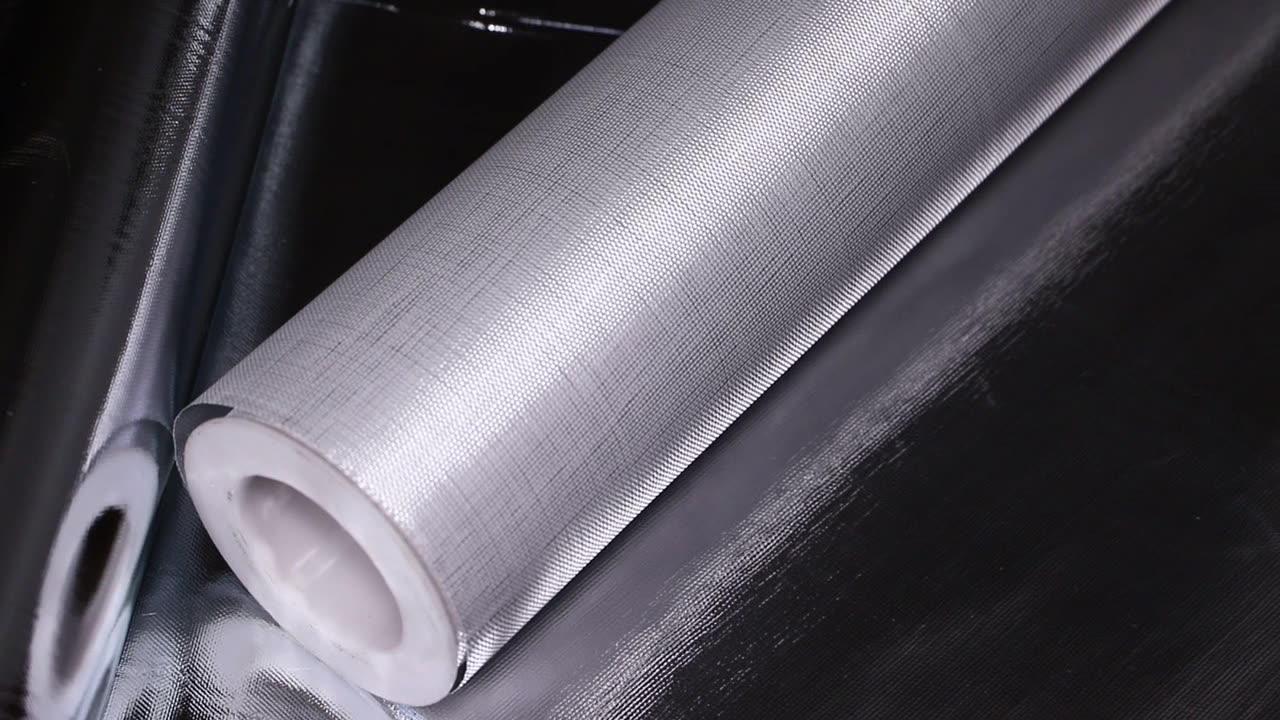 Hangzhou Fireproof Aluminum foil Fiberglass Cloth with Mesh