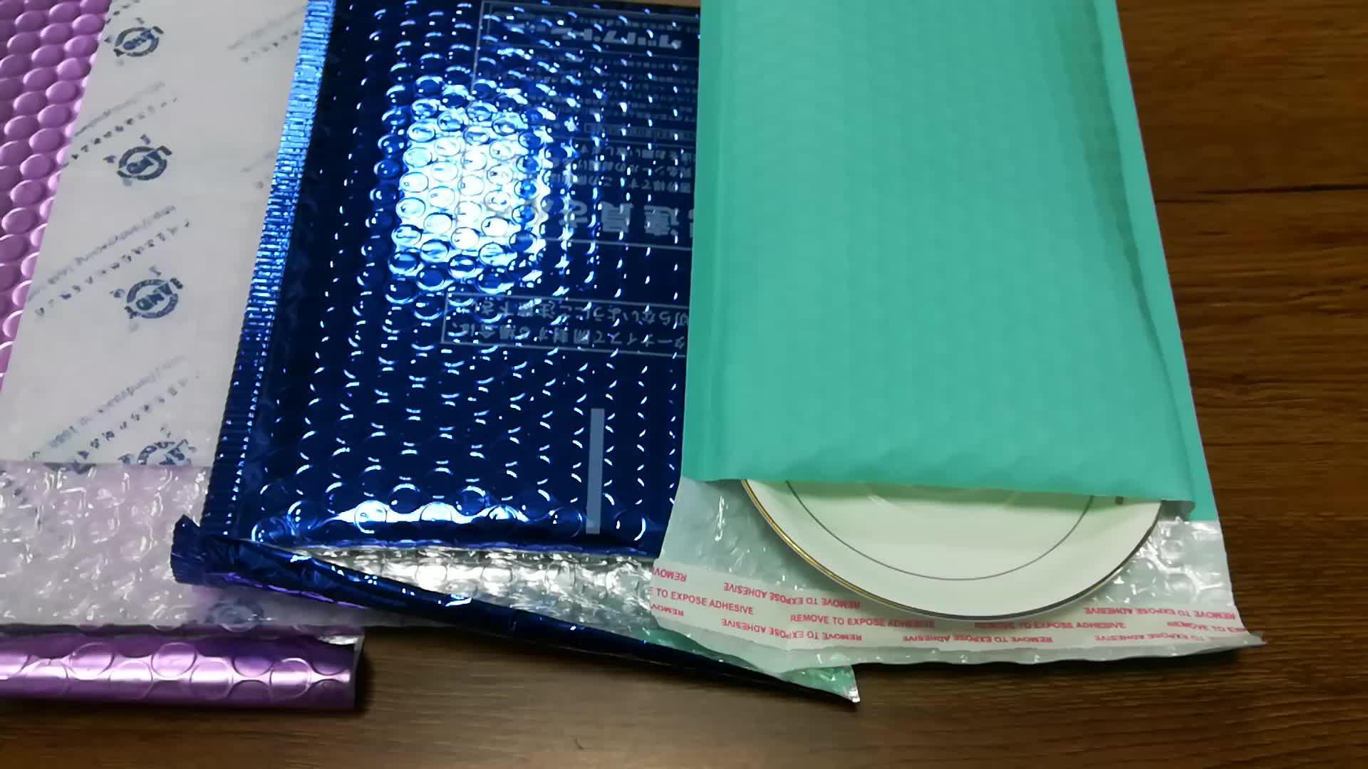 Selbst Klebe Kraft Express Mailing Taschen Kleine Blase Werbungen Aufgefüllte Umschläge