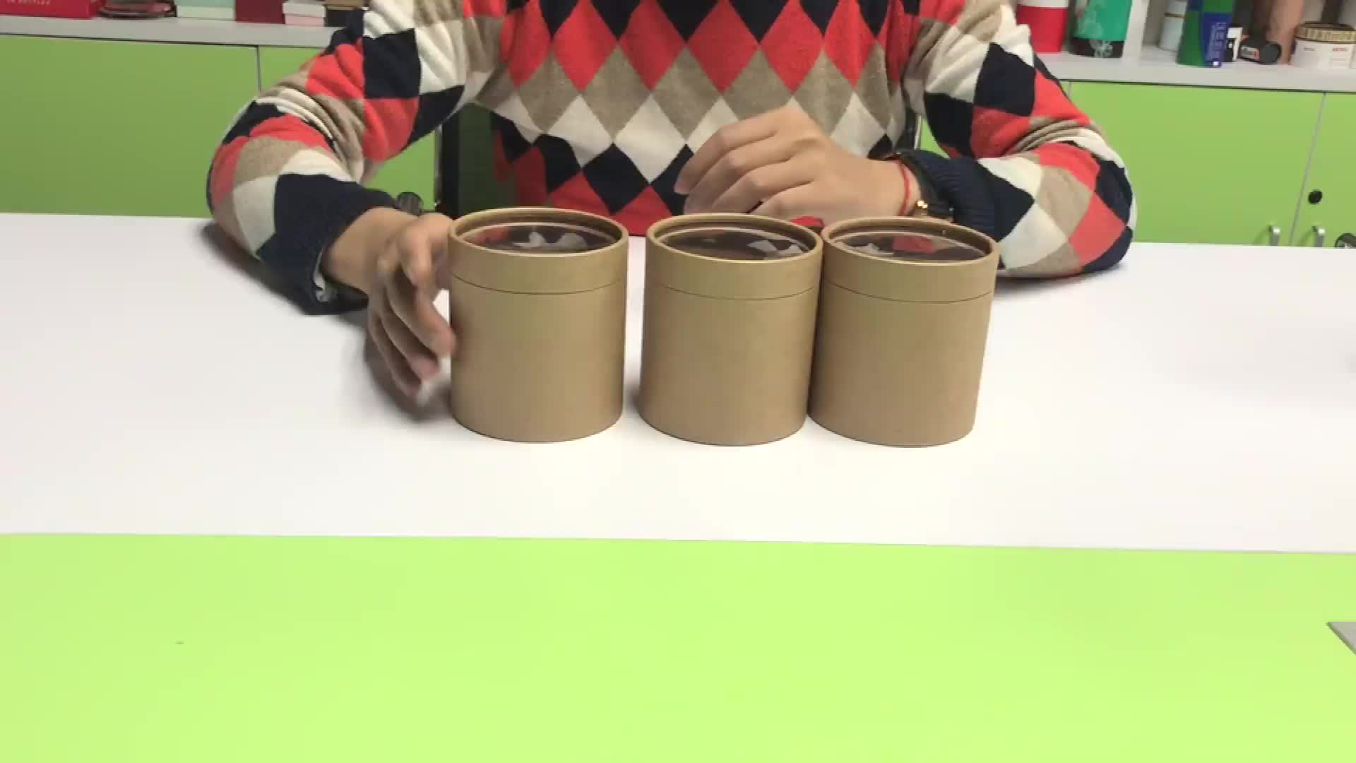 ECO-friendly  food grade paper tube tea packaging