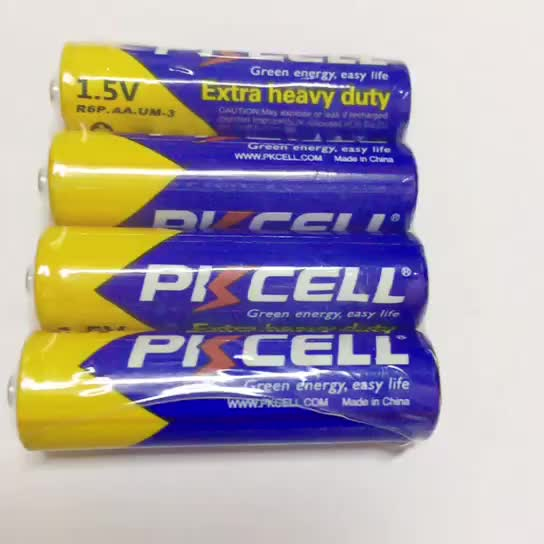 Hot Sale Long Life 3 Years 105min 1.5V Primary Dry Batteries R6 R6P aa um3 Carbon Zinc Battery