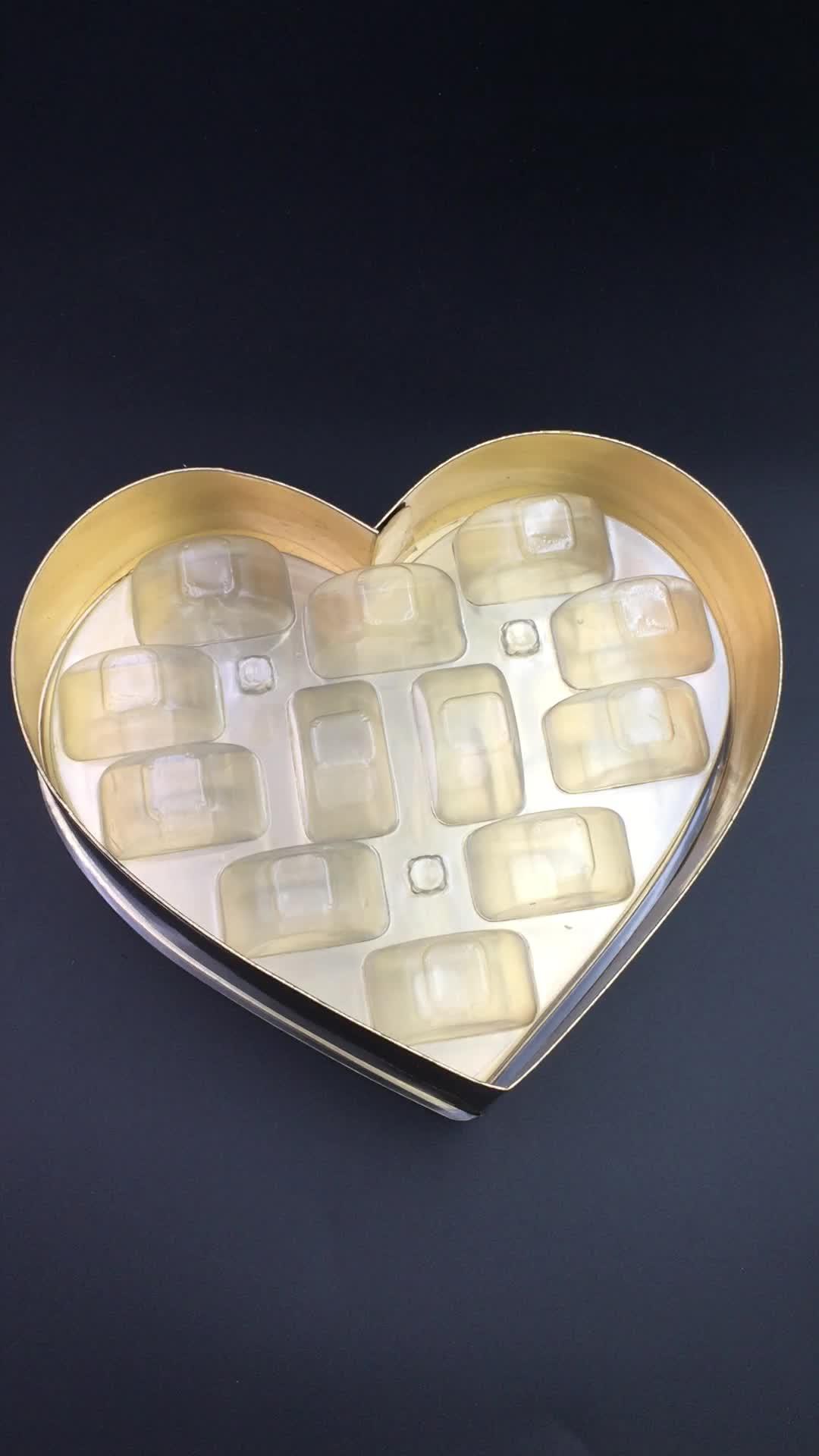 Macarons ที่กำหนดเองพลาสติกช็อกโกแลตบรรจุภัณฑ์ของขวัญกล่อง