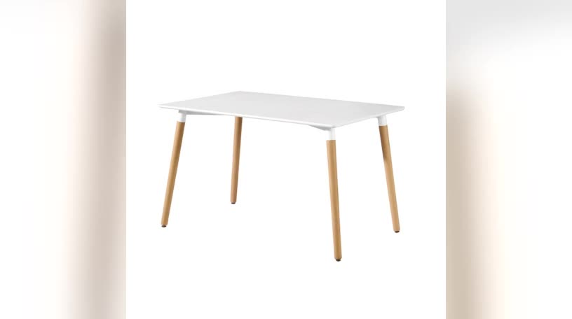Scandinavian white modern design wood mdf dining table