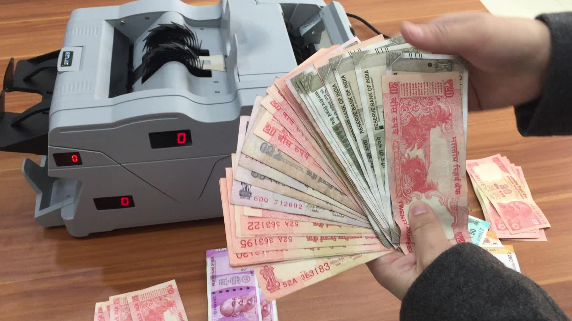Professionale di Alta precisione multi-valuta rivelatore dei soldi Contatore macchina contadora de billetes cash conteggio macchina