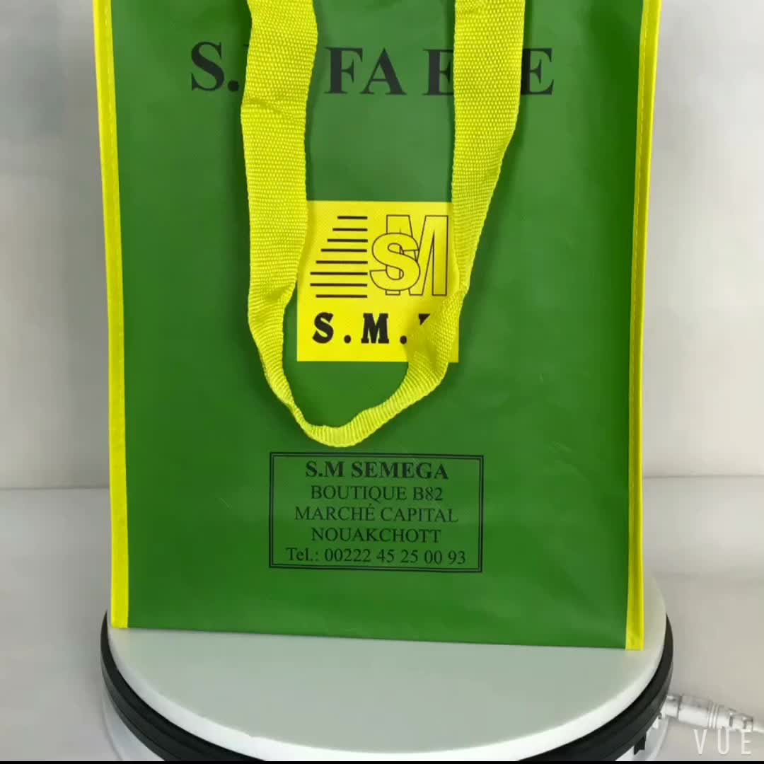 Professional made good quality popular laminated pp non woven double layer tote bag