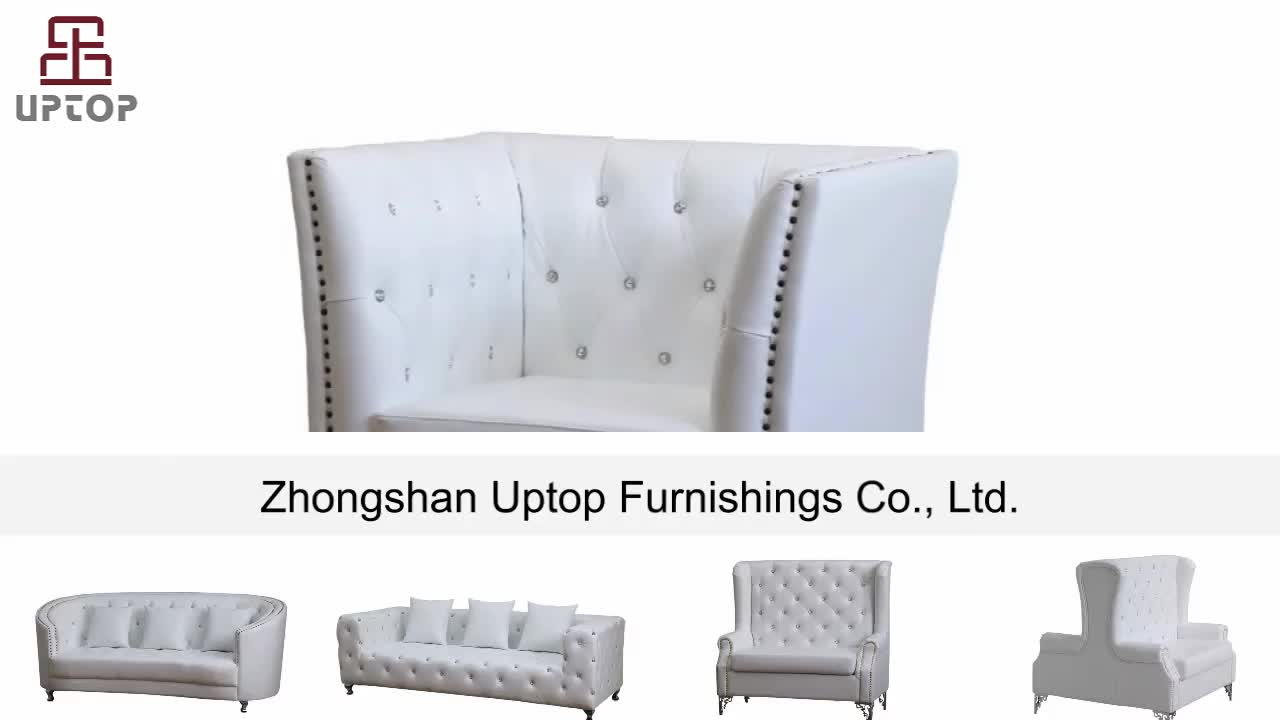 (SP-KS316) 2019 Modern design living room furniture fashion leather chesterfield sectional sofa