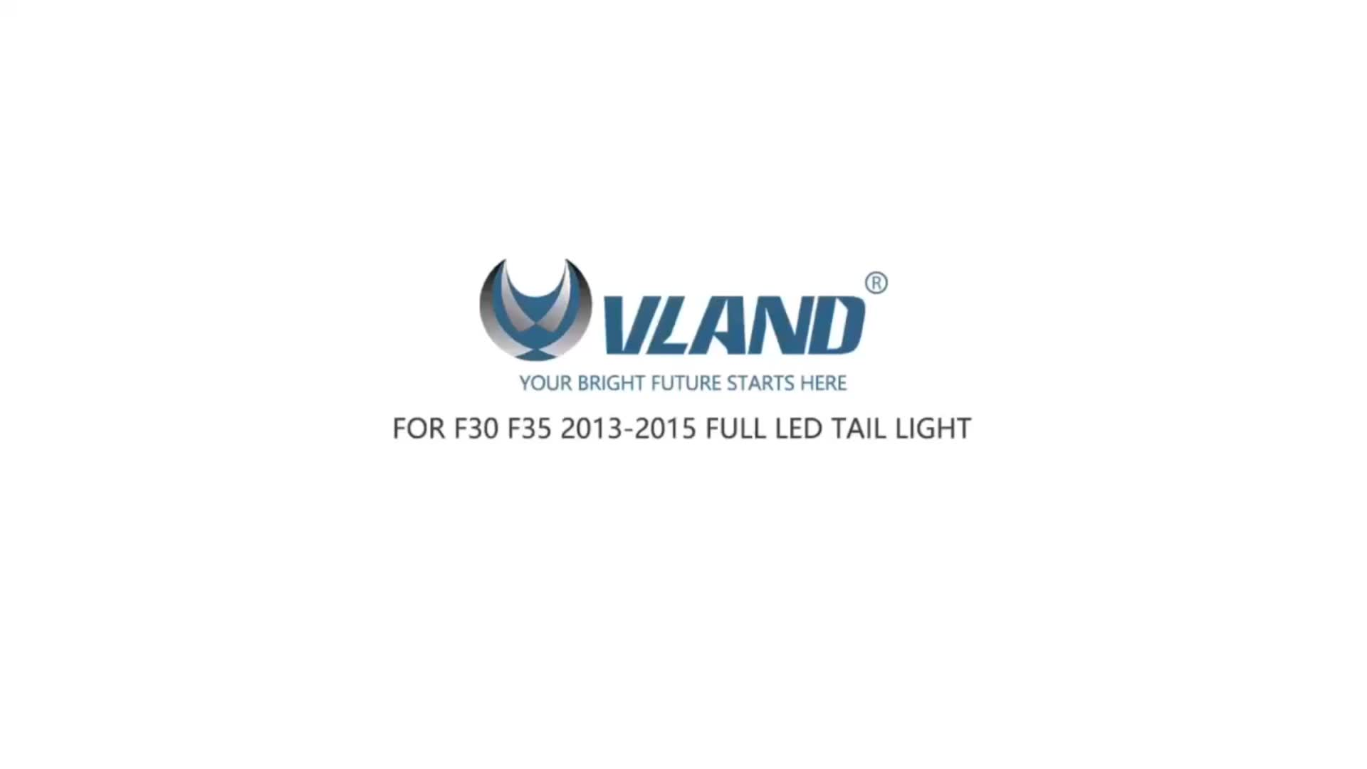 VLAND factory E-mark Full Led Rear Lamp for F30 F35 2012-2015 Tail Lamp Turn Signal with Sequential Indicator Tail Light