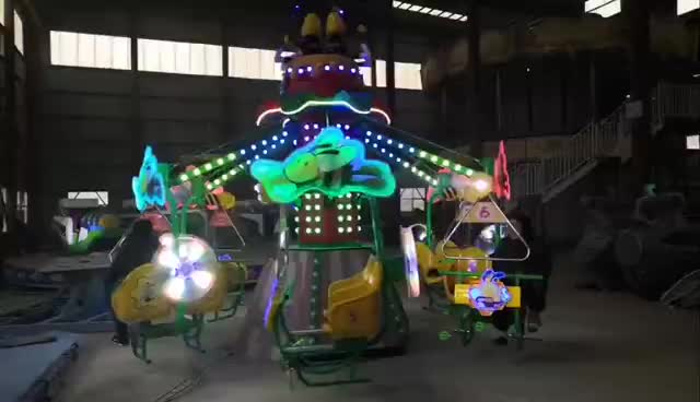 amusement park outdoor rotary magic bike flying bee ride for sale