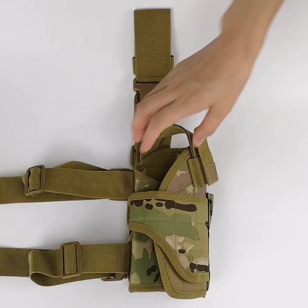 Custom Camouflage Leg Concealed Pistol Holster Bag Carry Leggings Ankle Gun Holster