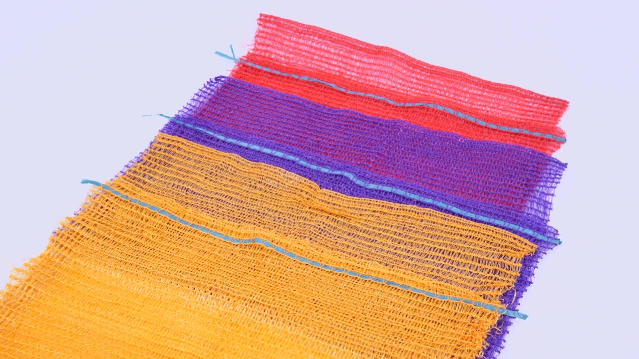 จีนโรงงานสีส้มมะนาวหัวหอมพลาสติกตาข่ายผลิตถุง