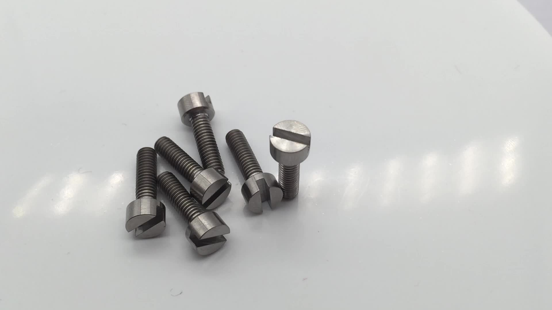 DIN84 GR5 titanium slotted head screws M4 M6 M8