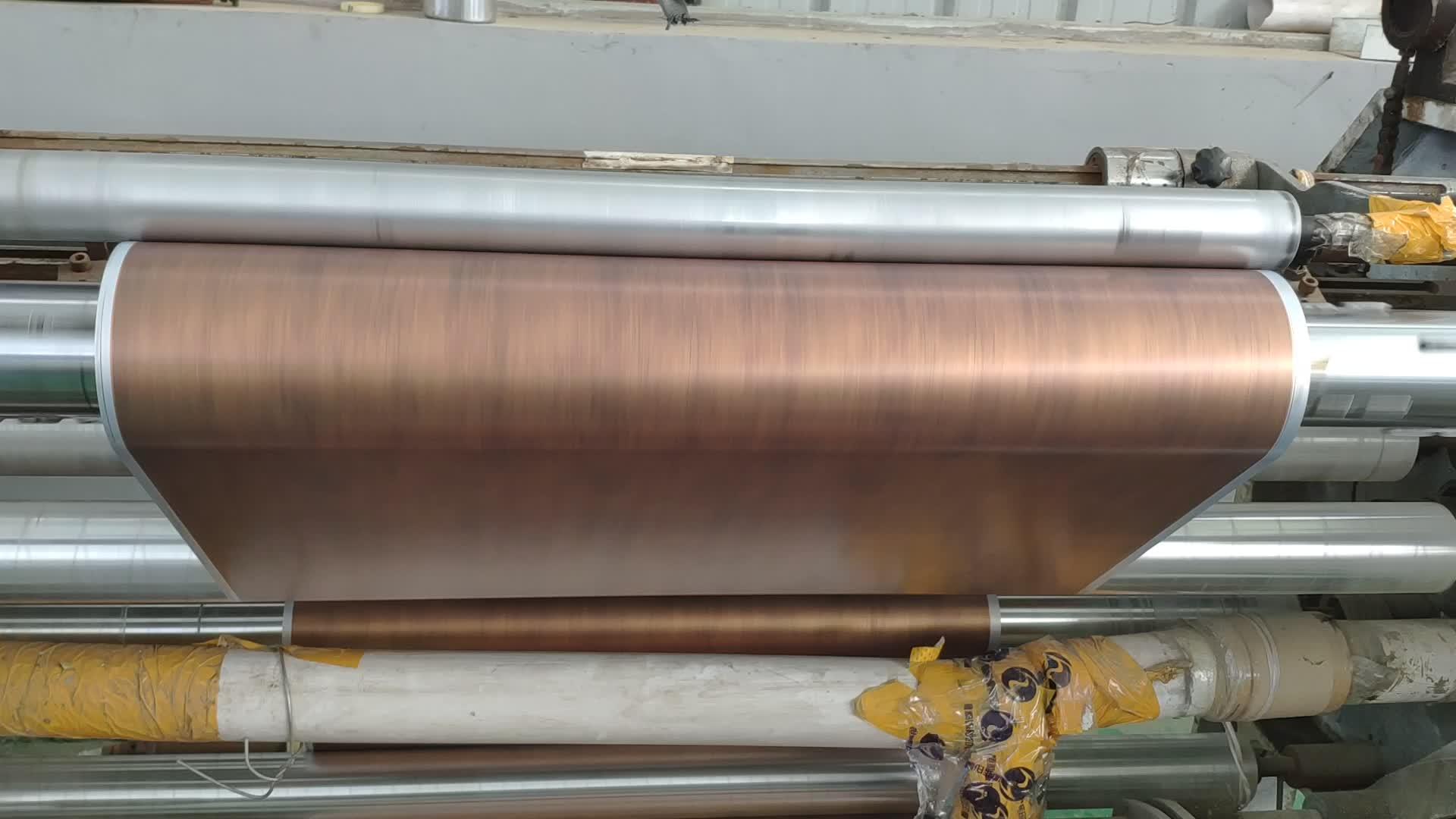 PET Thermal Transfer Metallic Rose Gold Hot Stamping Foil