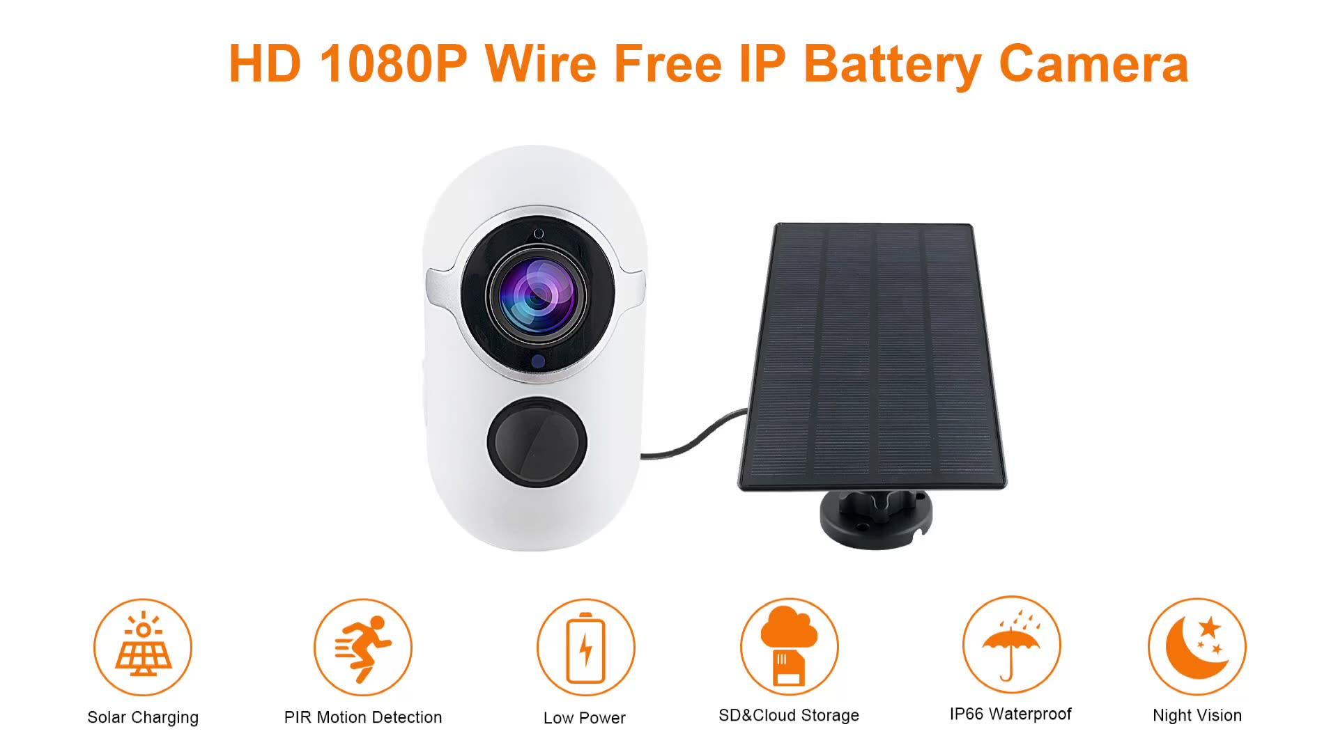 Sinovision all'aperto IP66 impermeabile solar powered batteria della macchina fotografica 2.0mp wifi pannello solare macchina fotografica con audio bidirezionale visione notturna di HD