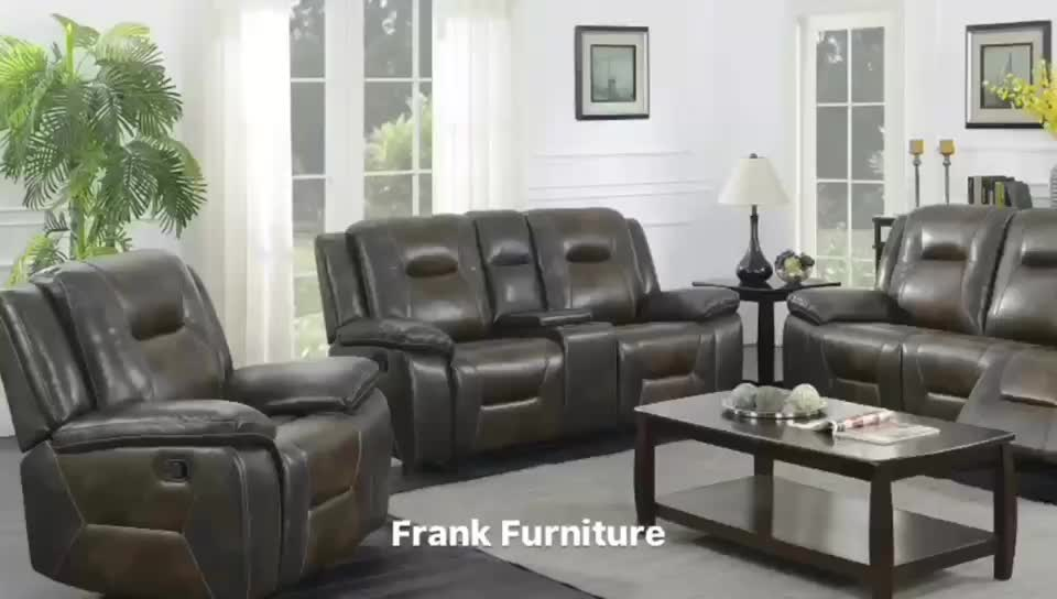Hot Sale New design Brown Air leather recliner sofa for living room