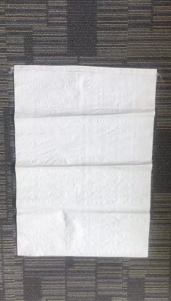 Supplier customized white printed poly sacks / plastic weed seed packaging bags