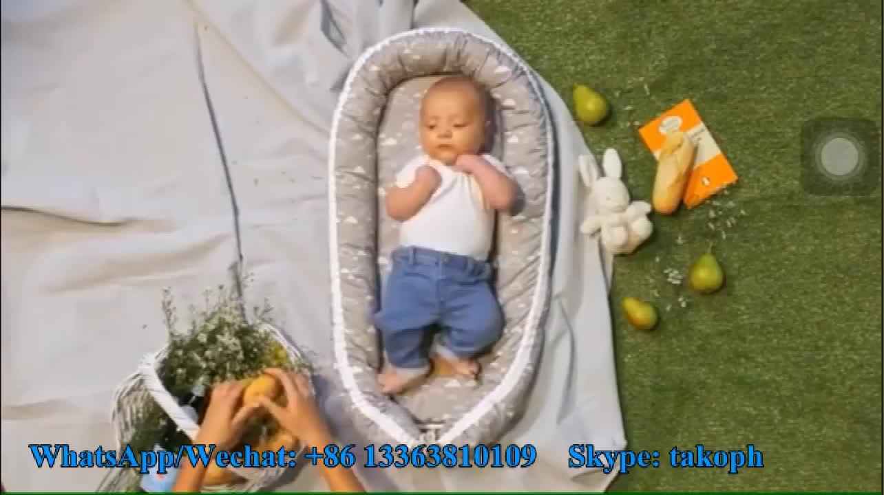 Venta al por mayor de algodón orgánico de viaje portátil nuevo bebé nido cama cuna