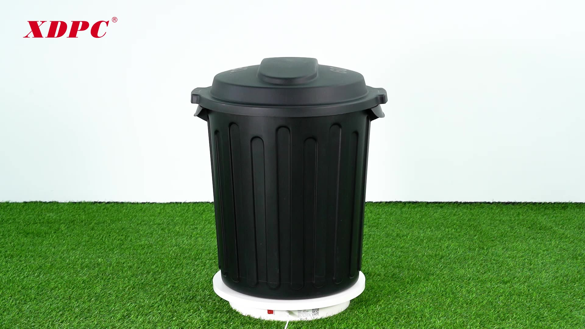 American style 60L kitchen round plastic waste container trash bin