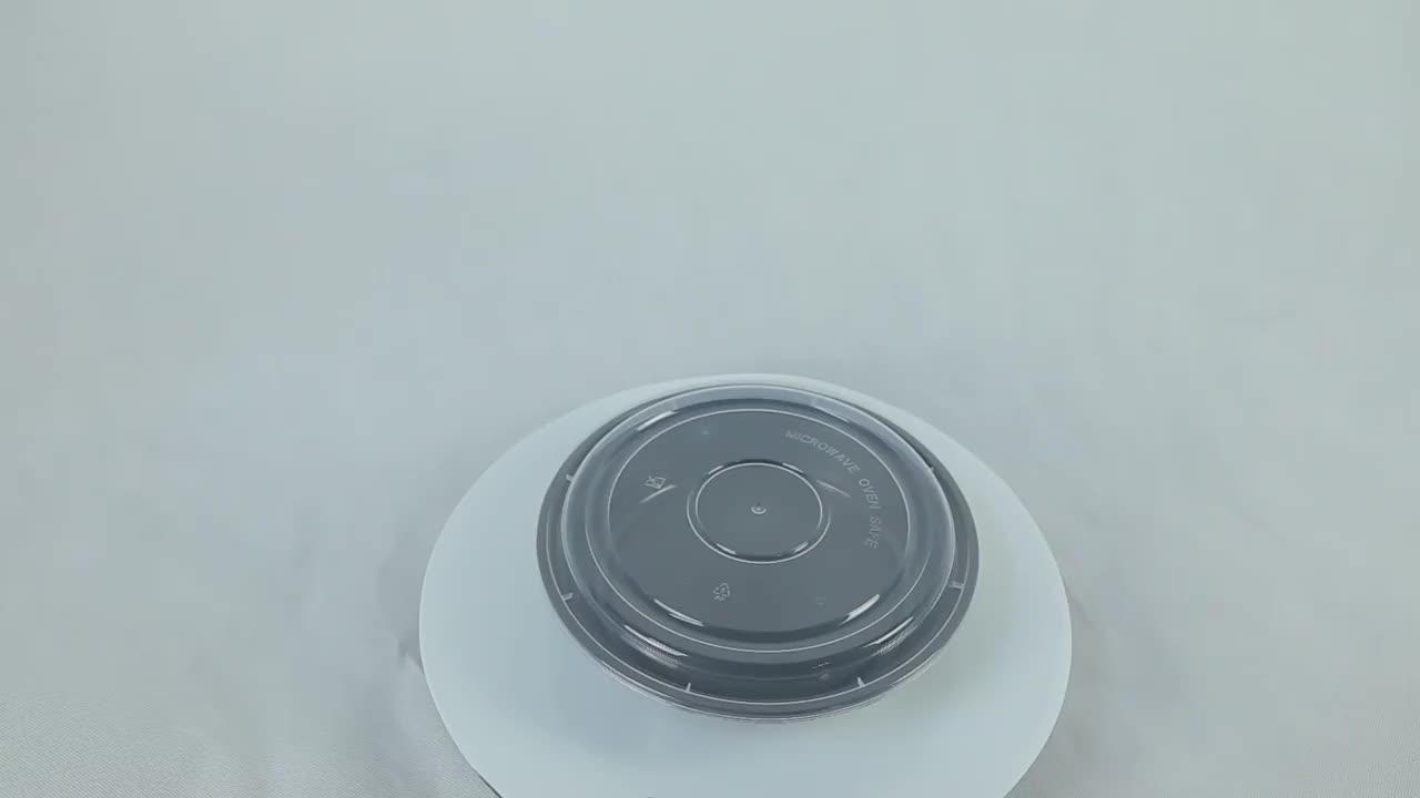 Recipiente de alimento plástico descartável refeição preparação freshware removem o recipiente microwavable recipientes redondos