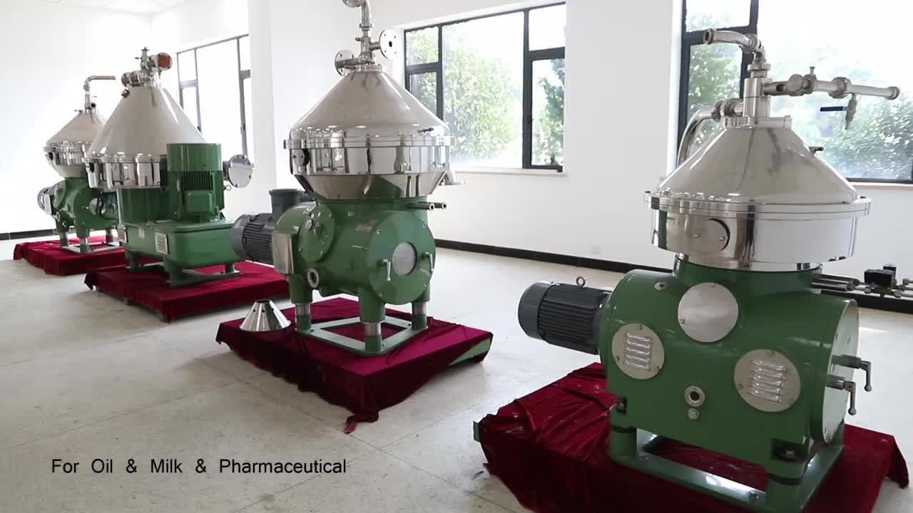 Continue disc stack olie centrifugaal separator