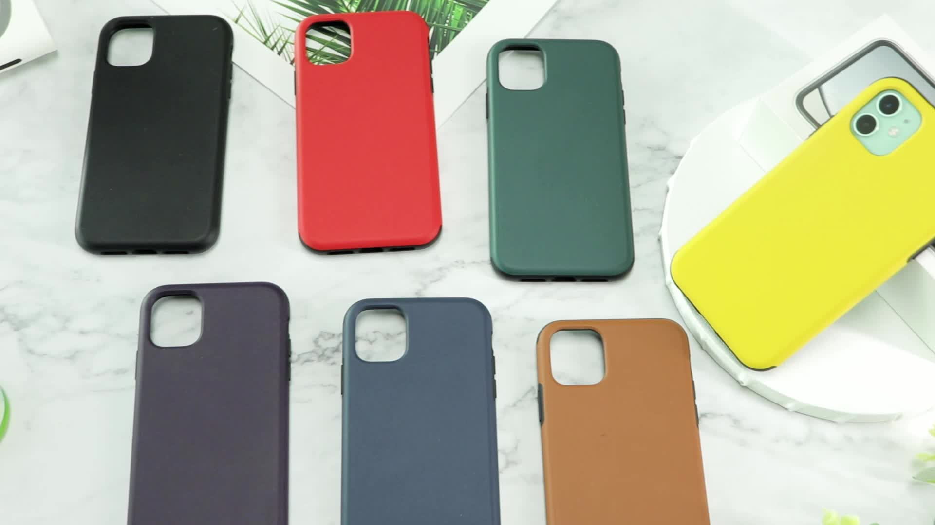 Flexible TPU Frame Hard Back Leather Shockproof Cover for samsung galaxy S20 Plus