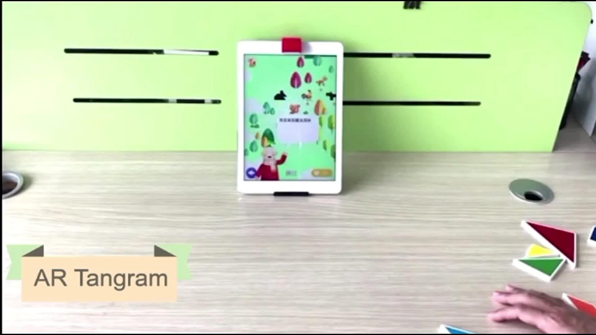Qualité populaire Magnétique Tangramrecyclable puzzle jouets pour enfants développement mental tangram En Bois
