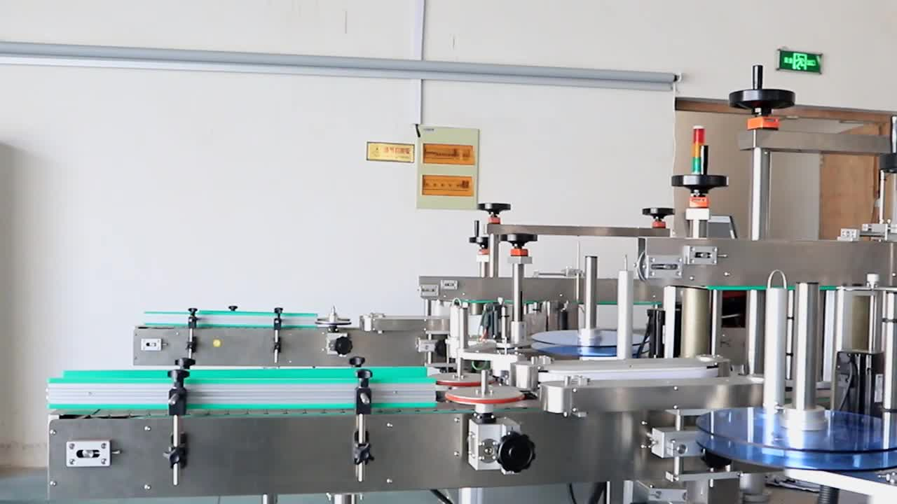 Double Stick Labels Vertical Adhesive Automatic Label Machine