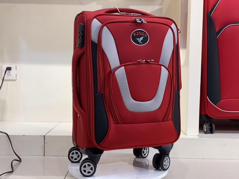 Tissu broderie voyage bagages Sacs ensembles prix usine Chariot Valise Trolley promotionnel bagages de haute qualité 3 ensembles